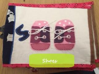 soft book pour enfants avec chaussures en feutrine