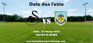 Data dan Fakta Fantasy Premier League GW 27 Swansea City vs Burnley Fantasi Manager Indonesia