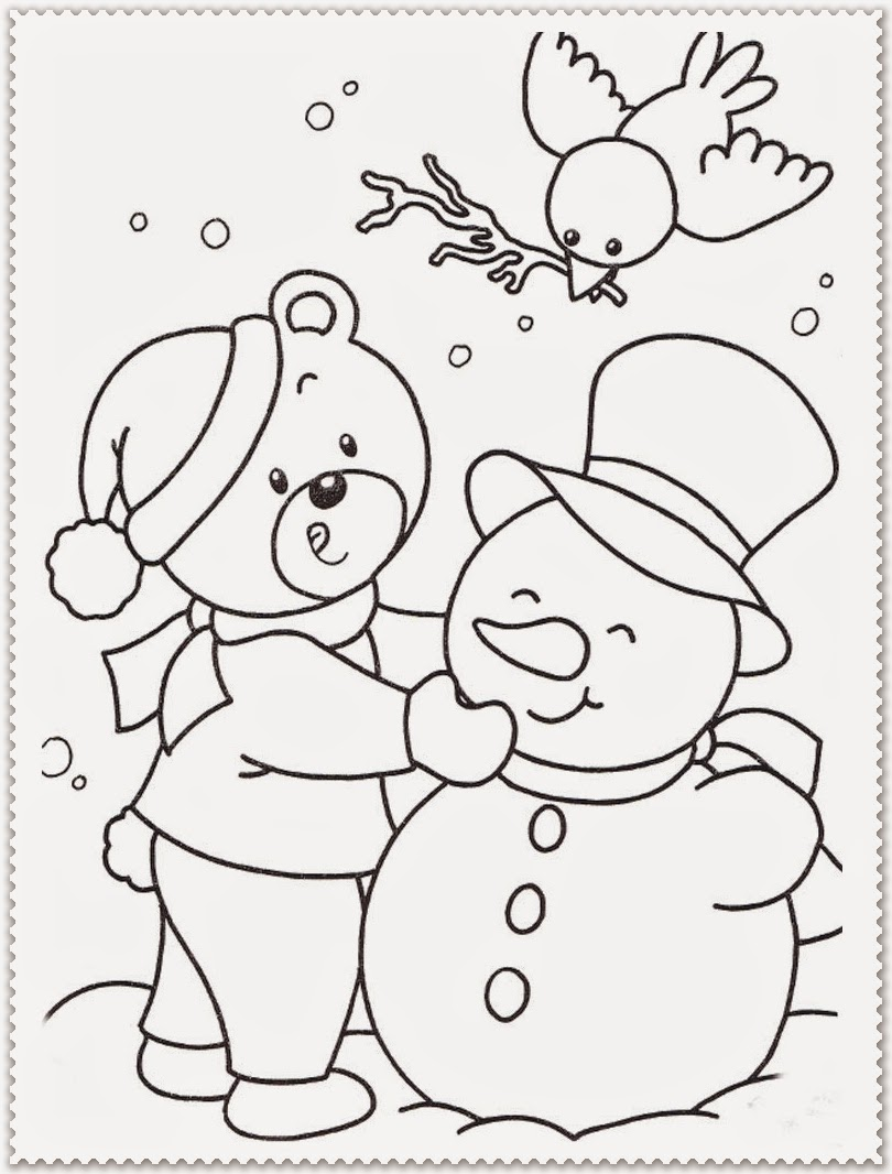 Winter coloring pages realistic coloring pages for Winter coloring pages for preschool