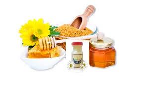 mật ong , phấn hoa, sữa ong chúa
