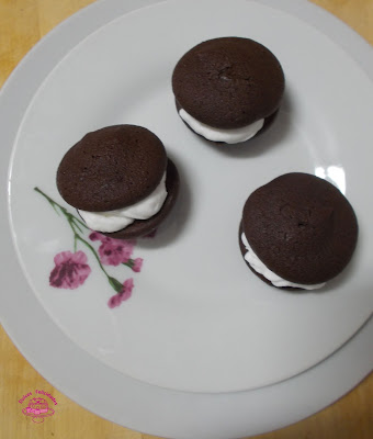 Whoopie pies de chocolate