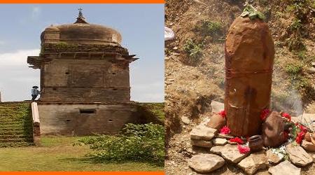 वर्षों से मूर्ति विहीन मंदिर का शिवलिंग पहाड़ी में दबा हुआ मिला