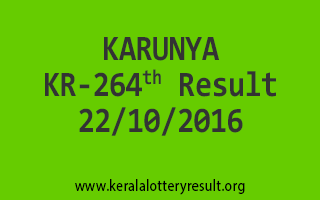 KARUNYA KR 264 Lottery Results 22-10-2016