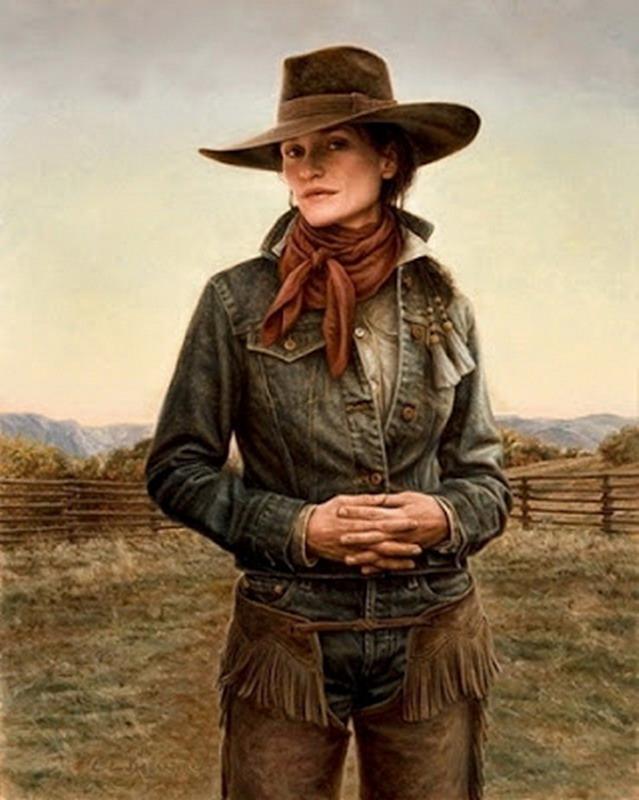 Pintura Moderna y Fotografa Artstica Las mujeres vaqueras de