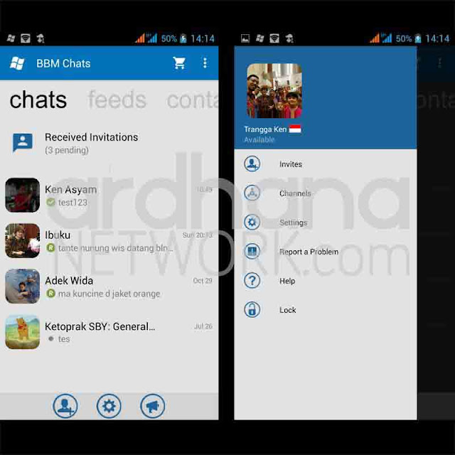 Preview BBM Windows Phone V2.10.0.35