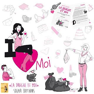"""illustration édition Solar, Mon cahier """"La drague et moi"""""""