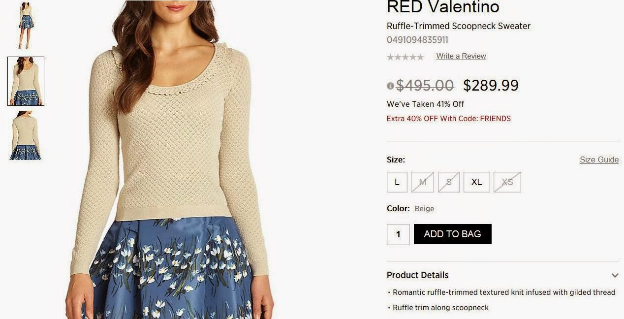 Mariettes Back To Basics My Escada Red Valentino Score Mooi Printing Premium Sweater Top On December 23 They Offered The Already 41 Marked Off For An Extra 40