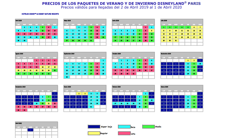 Calendario De Multitudes Disney 2019.Disneyland Paris Consejos Y Recomendaciones Trotajoches