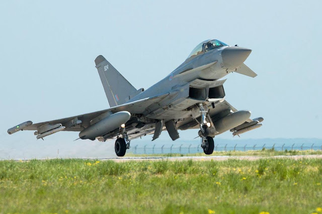 RAF Typhoons Romania intercept Russian aircraft