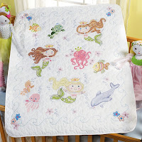 Mermaid Bay Crib Cover Kit