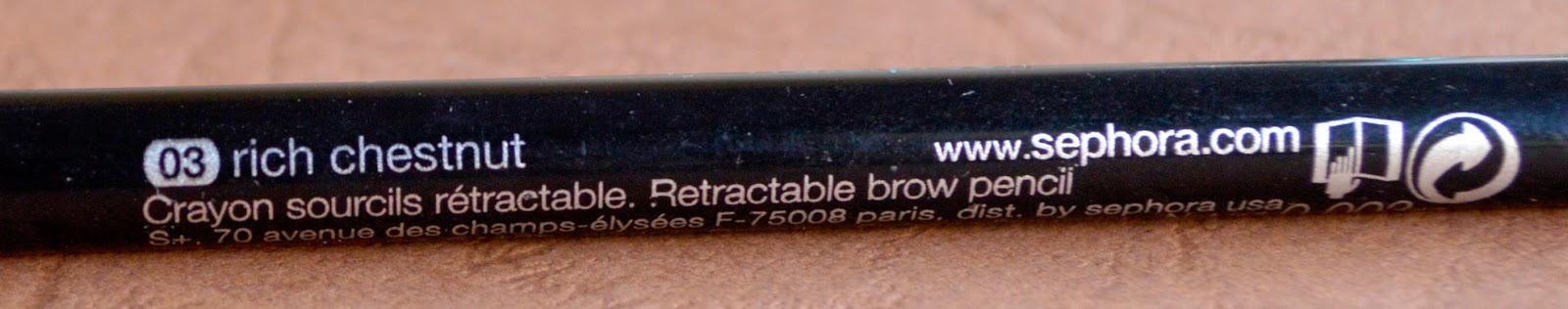 Retractable Brow Pencil - Waterproof by Sephora Collection #21
