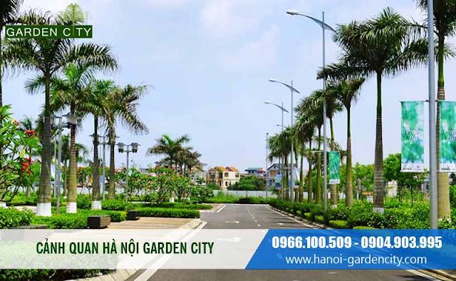 Khu đi dạo chung cư Long Biên Canal Park