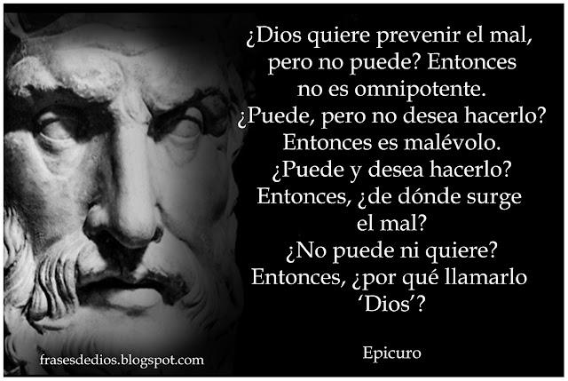 epicuro frases dios