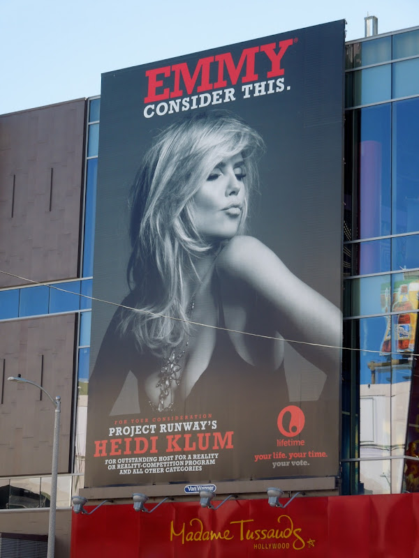 Heidi Klum Emmy consider this billboard