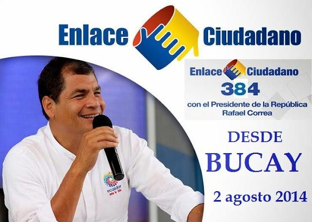 Sabatina Rafael Correa 384 del 2 agosto 2014