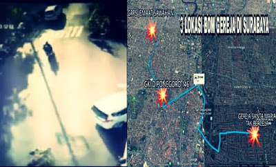 Foto Tersangka dan Video Lokasi Bom Surabaya 2018 Tanpa Sensor di Internet