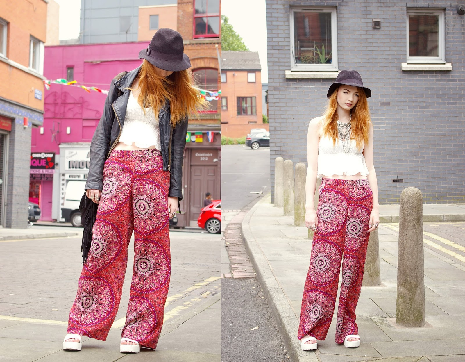 15f80e45a8e Top – Topshop | Trousers – Primark | Shoes – My1stwish* | Jacket – Topshop  | Necklace – Primark | Bag – BANK* (similar) | Hat – Missguided*