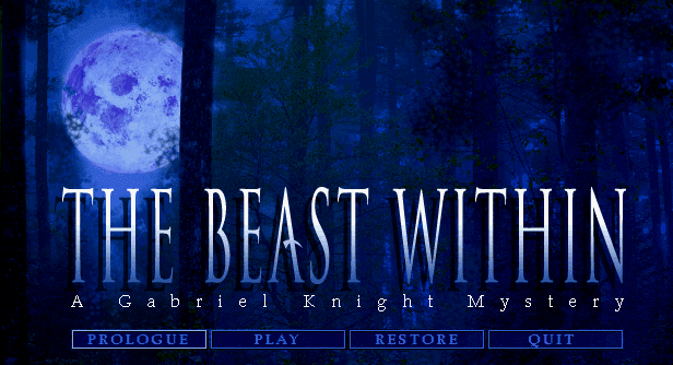 Gabriel Knight 2 Beast Within title screen