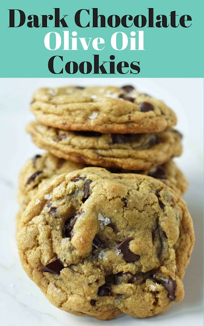 Dark Chocolate Chunk Olive Oil Cookies