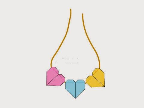 Cách gấp, xếp dây chuyền trái tim bằng giấy origami - Video hướng dẫn xếp hình trái tim quà tặng - How to fold a Heart Pendant