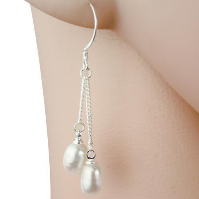 Shop Nile Corp Wholesale Silver Plated Fresh Water Pearl Earrings