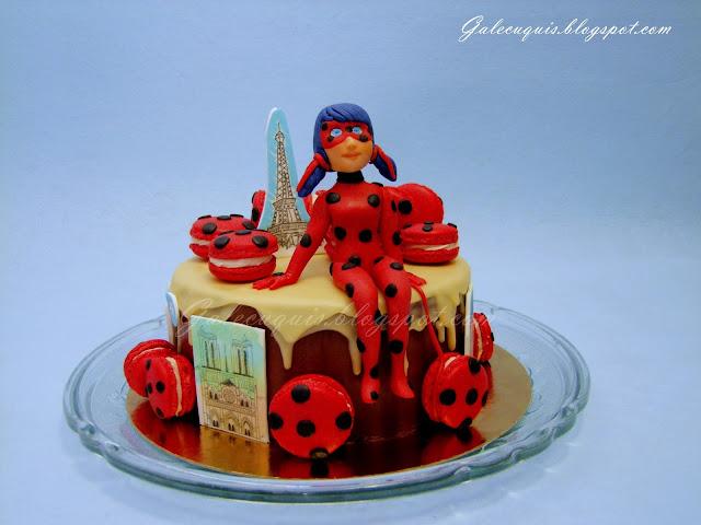 drip cake ladybug