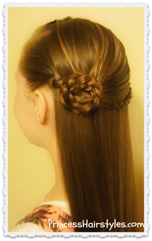 Elegant rosette braid hairstyle tutorial
