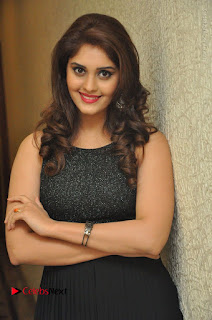 Actress Surabhi Stills in Black Long Dress at turodu Audio Launch  0045.JPG