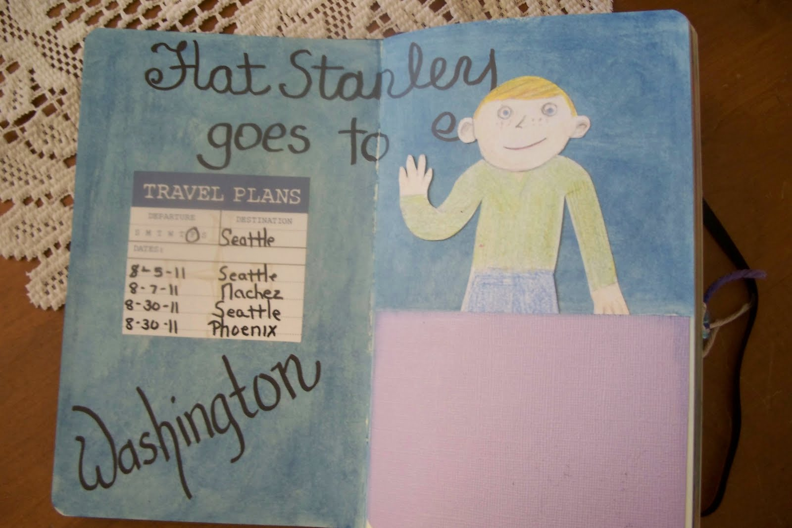"""One Of The """"must Dos"""" Is Prepare A Page For Flat Stanley. He Is A Character  From A Series Of Children's Books. A Bulletin Board Fell On Him And Now He  Can"""