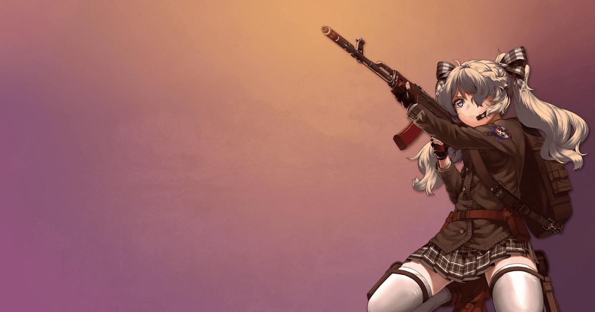 Картинки для рабочего стола аниме девушки оружие