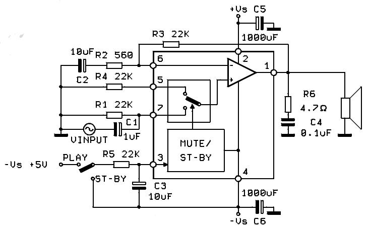 circuit wiring solution  60w hi fi audio power amplifier