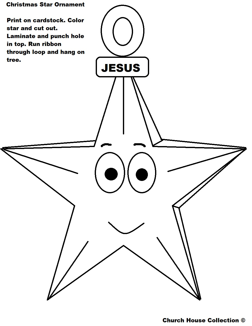 Church House Collection Blog: Printable Christmas Ornament