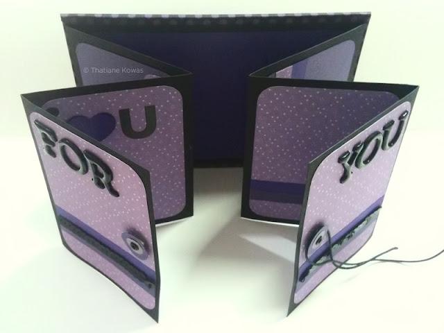 mini álbum sanfona scrapbook