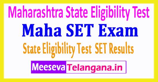 Maharashtra State Eligibility Test MH SET Results 2018