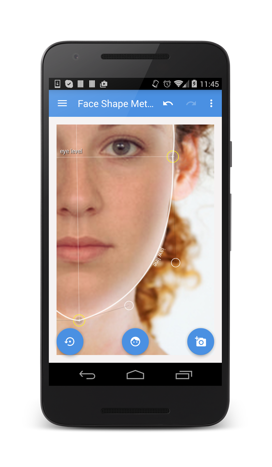 Vistech Projects What Is My Face Shape Face Shape Meter App