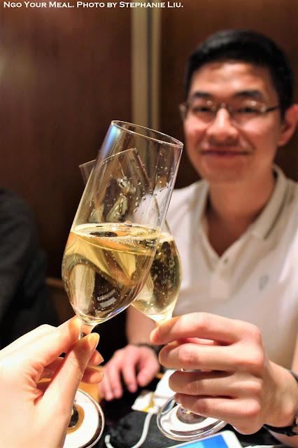 Champagne at Kien in Tokyo, Japan
