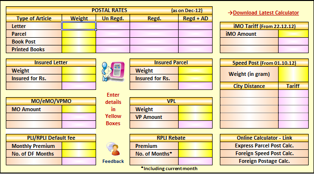 System Administrators, Indiapost : POSB Interest & Postal