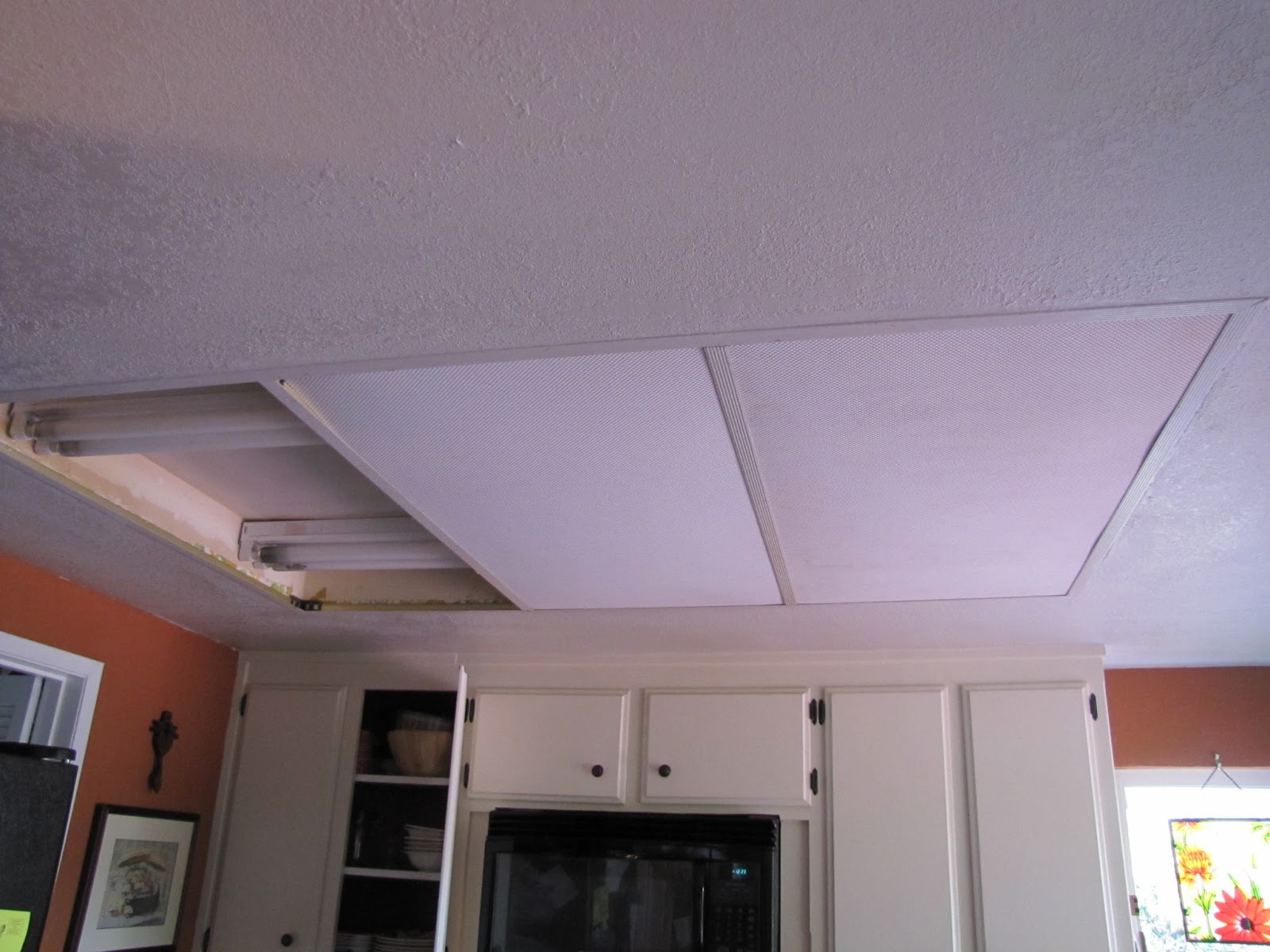 Replace Florecent Box Light In Kitchen