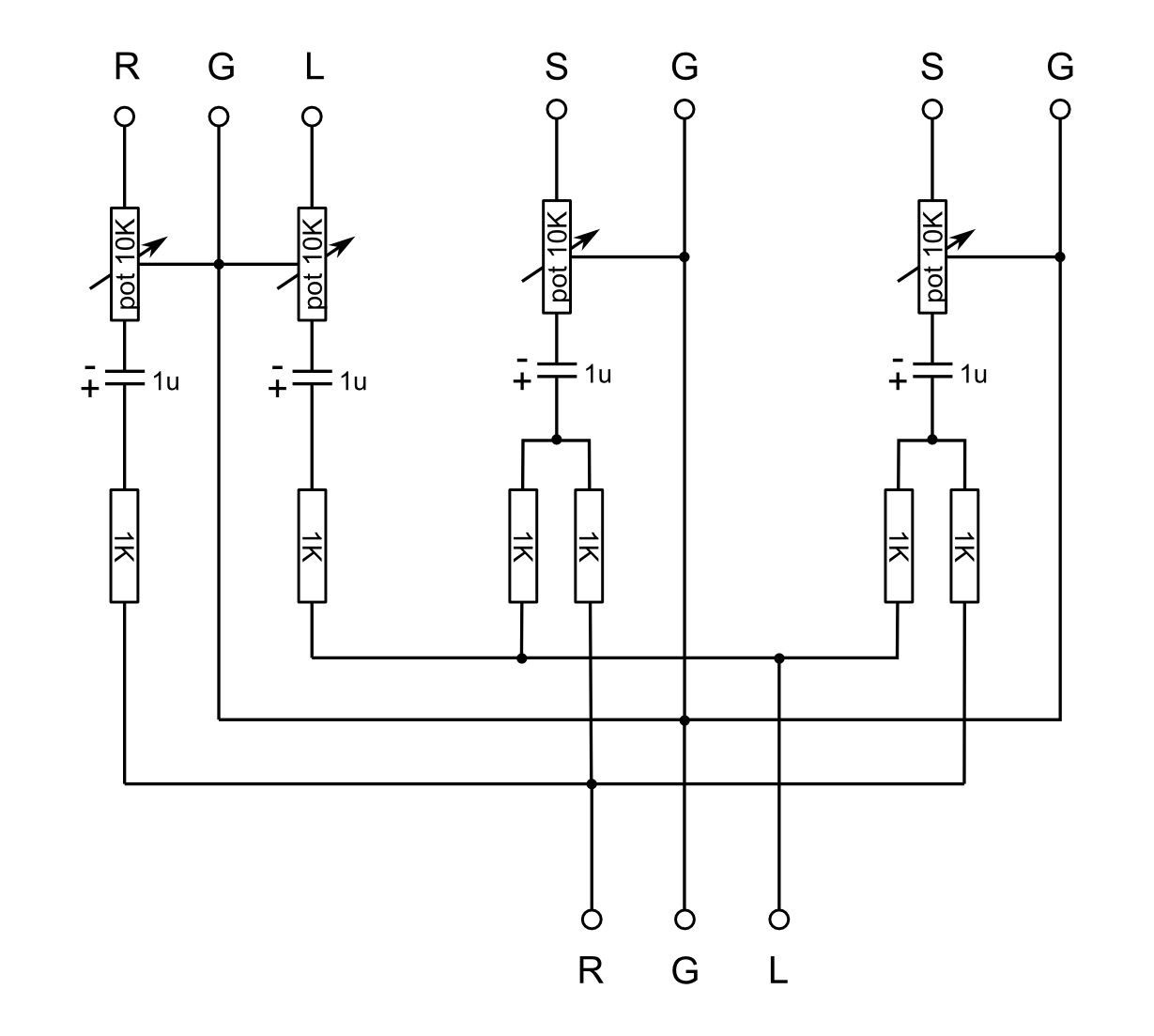 passive audio mixer circuit passive mixer circuit stereo to mono circuit mono to stereo circuit mono [ 1229 x 1103 Pixel ]