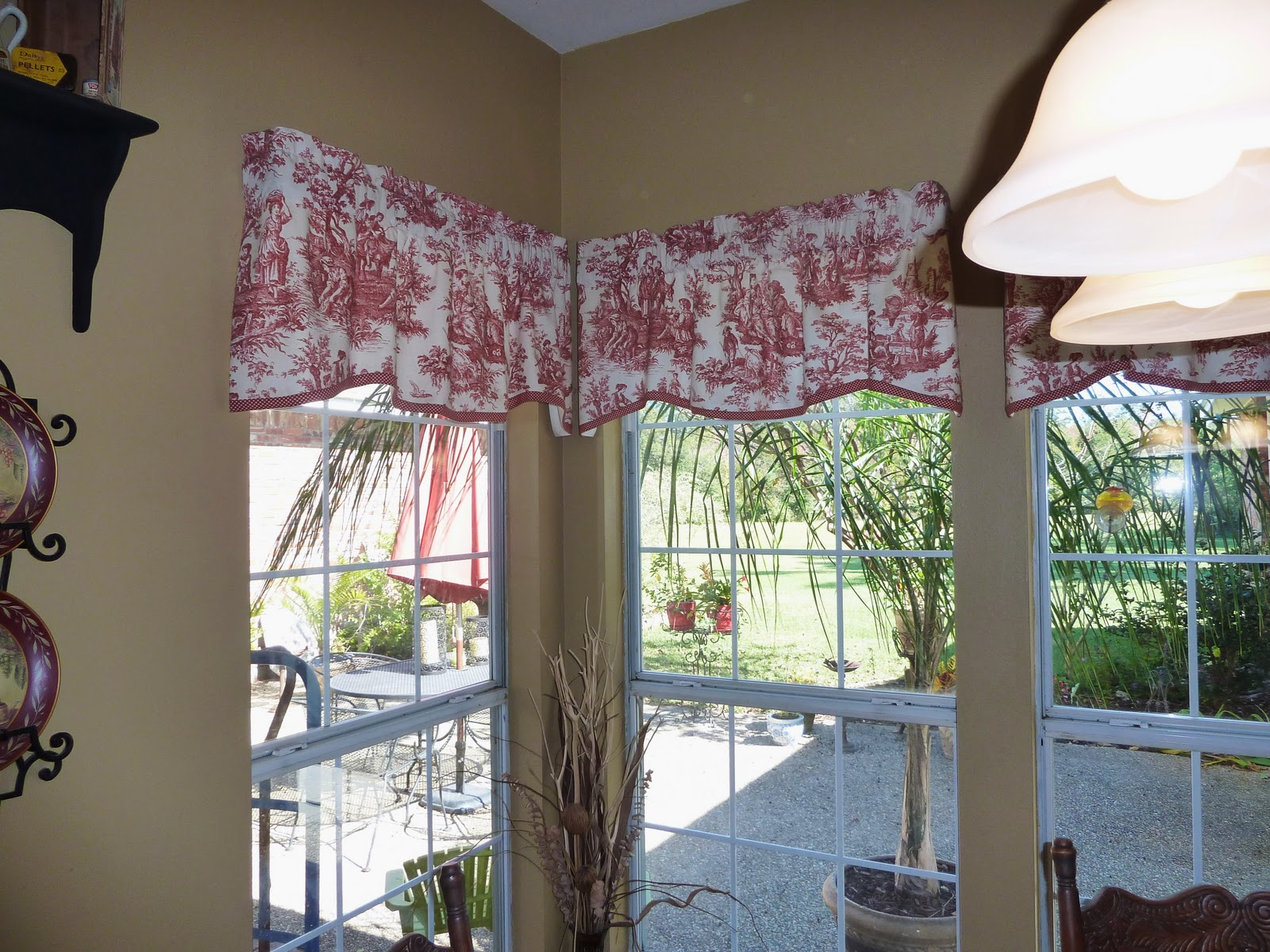 Superior Red Toile Curtains Roselawnlutheran