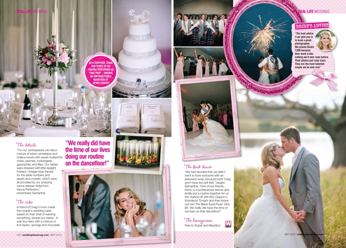 STUDIO 1208 feature in Wedding Ideas Magazine May 2013