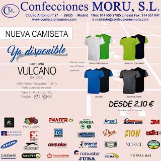 Ampliar imagen : Camiseta Vulcano - MORU® - Confecciones Moru S.L.