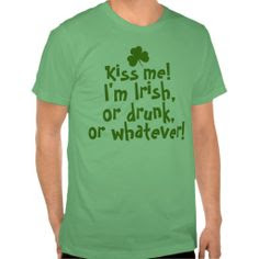 St Patrick's Day 2018 Kiss Me, I'm Irish Shirt
