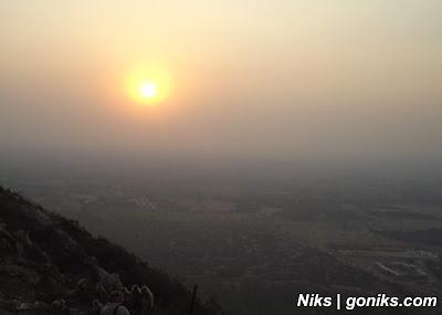 sunset at savitri temple
