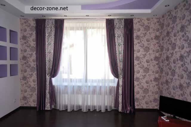 color of living room window curtains