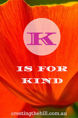 Next letter up for the A-Z challenge of Positive Personality Traits is K and K is for Kind