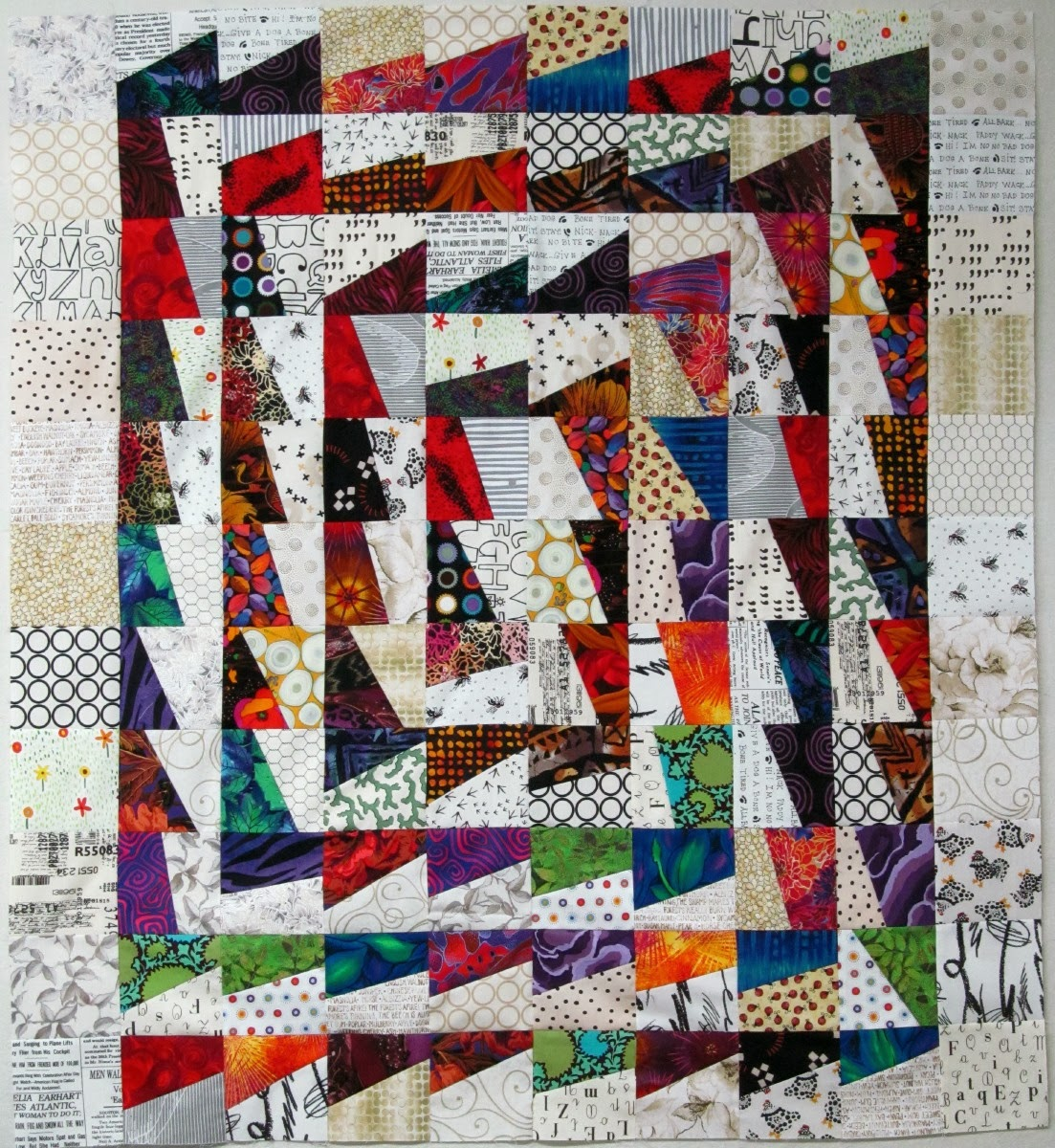 Exuberant Mix Of Colors And Patterns: Exuberant Color : Fractured Block Quilts
