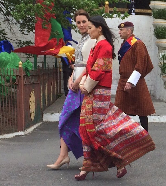 Prince William and Kate Middleton, King Jigme Khesar Namgyel Wangchuck and Queen Jetsun Pema in Thimphu