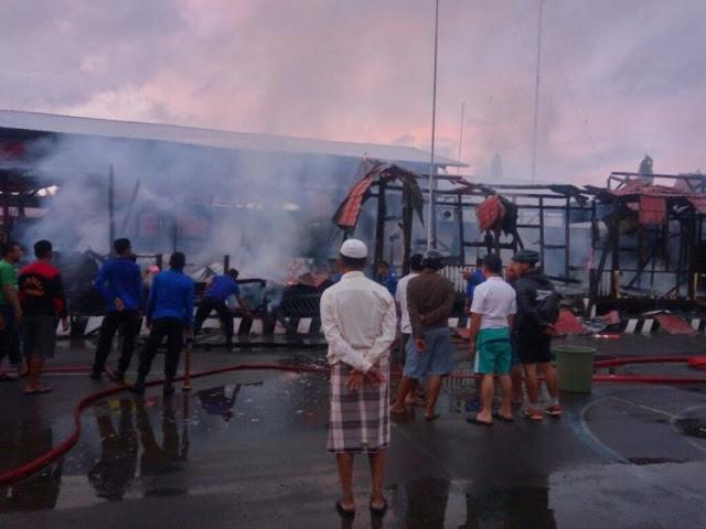 Kapolres : Penyebab Kebakaran, Belum Dapat Dipastikan