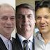 Pesquisa Ibope para presidente: Bolsonaro, 31%; Haddad, 21%; Ciro, 11%; Alckmin, 8%; Marina, 4%